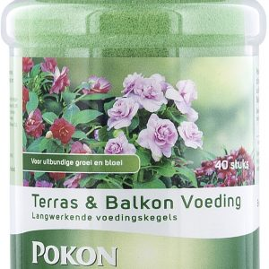 Pokon Terras & Balkonpl Voeding Langwerk. Kegels (40 stuks)
