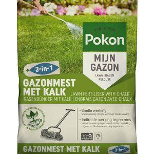 Pokon Gazonmest met Kalk 3-in1 75m2