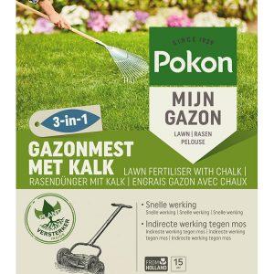 Pokon Gazonmest met Kalk 3-in1 15m2